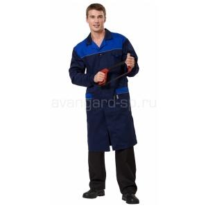 Халат мужской Технолог синий васильковый