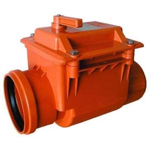 Клапан запорный канализационный ПВХ 110мм