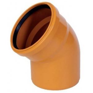 Колено канализационное ПВХ 110мм 45º