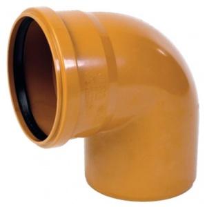 Колено канализационное ПВХ 200мм 87º