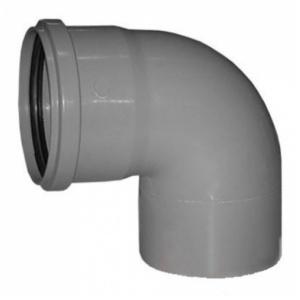Колено канализационное полипропиленовое 110мм 87º