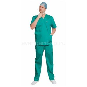 Костюм хирурга универсальный зелёный