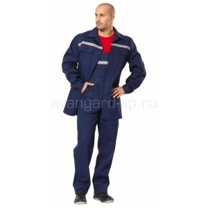Костюм Профессионал Саржа куртка комбинезон синий