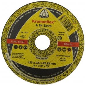 Круг отрезной Kronenflex А24 EXTRA 125х2.5x22.23мм металл