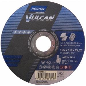 Круг отрезной Norton 125x1.0x22.23мм A60S-BF41 нерж. сталь