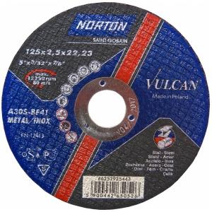 Круг отрезной Norton 125x2.5x22.23мм A30S-BF41 сталь