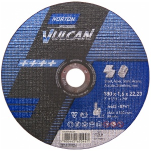 Круг отрезной Norton 180x1.6x22.23мм A46S-BF41 сталь