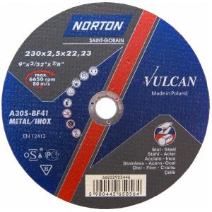 Круг отрезной Norton 230x2.5x22.23мм A30S-BF41 сталь