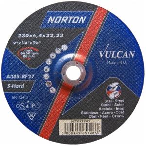 Круг зачистной Norton 230x6.4x22.23мм A30S-BF27 сталь