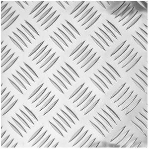 Лист алюминиевый рифлёный (Квинтет) 2х1200х3000мм 1050Н