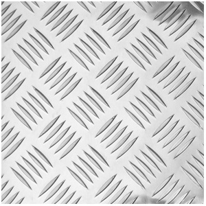 Лист алюминиевый рифлёный (Квинтет) 3х1500х3000мм 1050Н