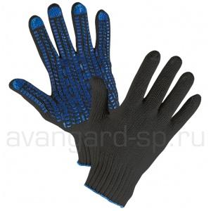 Перчатки трикотажные х/б с ПВХ Протектор Люкс