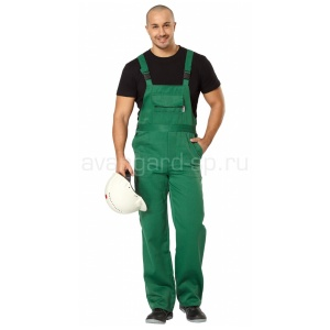 Полукомбинезон мужской Профессионал зелёный