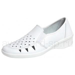 Туфли женские Медистеп белые крупная перфорация
