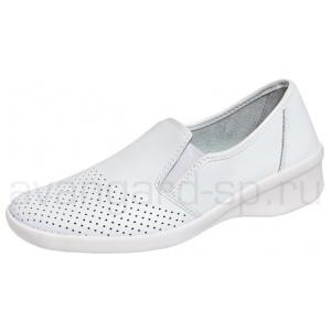 Туфли женские Медистеп белые мелкая перфорация