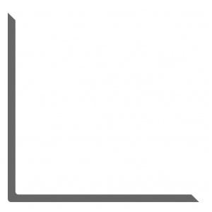 Уголок алюминиевый 50х50х4мм АД0