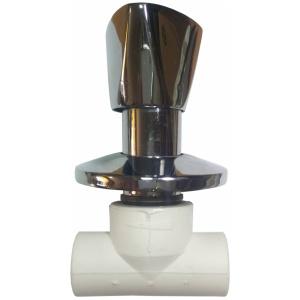 Вентиль ПП 25мм хром Турция