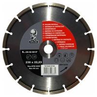 Диск алмазный Atlas Laser 230x22.23мм для резки строительных материалов