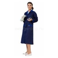Халат женский Технолог синий+васильковый