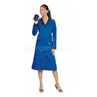 Халат женский Технолог васильковый+синий