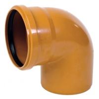 Колено канализационное ПВХ 110мм 87º
