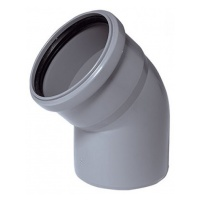 Колено канализационное полипропиленовое 110мм 45º