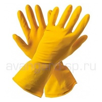 Перчатки хозяйственные латексные безворсовые
