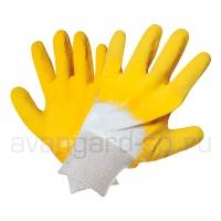 Перчатки стекольщика Грейфер х/б с рефлёным латексным покрытием